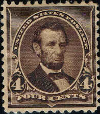 #222 1890 4c LINCOLN AMERICAN BANK NOTE CO. ISSUE MINT-OG/H