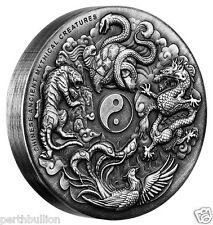 2016 Ancient Mythical Creatures 2oz Silver High Relief Antiqued Coin - Perth Min