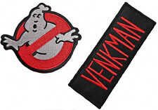 GHOSTBUSTERS No-Ghost Logo and VENKMAN Name Set of 2 Iron On/Sew On PATCHES