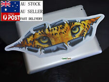 Hungry Tiger Face Eye On You Ripped Metal Vinyl Car Sticker Van Truck decal 34cm