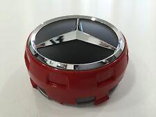 Mercedes-Benz Radnabenabdeckung für Alu AMG Design in Rot mit Stern in Chrom