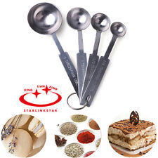 4pcs Stainless Steel Kitchen Cooking Measuring Spoon Cup Baking Utensil
