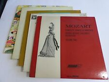 Lot Of 5 Mozart Classical LP Wholesale Vinyl Record