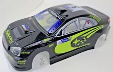 Subaru WRX STI Pre Painted RC Body1/10th Scale Black HPI Traxxas Kyohso 190mm