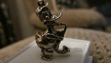 VINTAGE STERLING SILVER BRACELET CHARM DONALD DUCK WITH TROMBONE