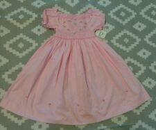 Girls Pink Smocked Dress By Chocolate Soup- Size 5 (4-5) Heart Valentine's Day