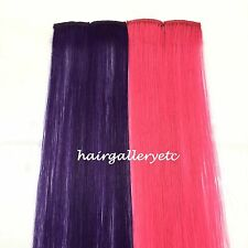 "12"" Multi Color Clip-in Human Hair Extensions 4pcs for highligts streaks USA"