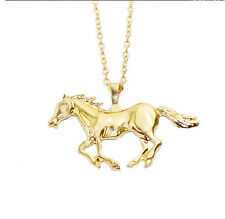 Unisex's Gold Horse Chain Stainless Steel Hot Men Pendant New Necklace