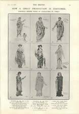 1906 Gorgeous Dresses Worn By Characters In Production Of Nero