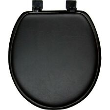 Black Soft Padded Round Toilet Seat - NEW