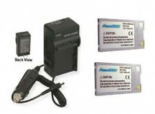 2 SB-P90A SB-P90AB SB-P90ASL Batteries + Charger for Samsung VP-M105 VP-M2200