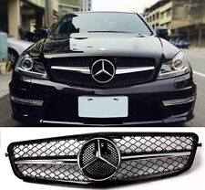 Mercedess Benz 08-13 W204 C-Class SL C200 C300 C350 Gloss Black Front Grille