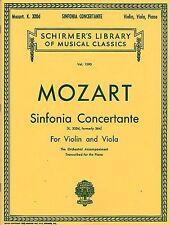 W.A. Mozart: Sinfonia Concertante (puntuación/piezas), Viola/Violin/Piano