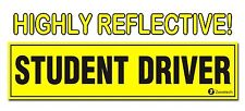 Zone Tech Student Driver Reflective Magnet Magnetic Car Bumper Sign Decal