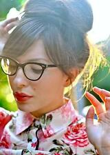 Retro Cat Eye BLACK Hot Sexy Teacher PIN Up Kitti Kat EyeGlasses Frames Vintage