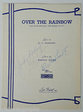 "JUDY GARLAND ""OVER THE RAINBOW"" SIGNED SHEET MUSIC AUTOGRAPH"