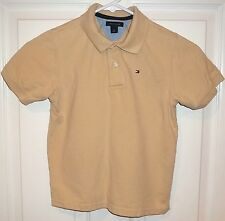 Kids Boys TOMMY HILFIGER~TAN POLO SHIRT~size 6~NEW~Rugby Golf Top~Beige