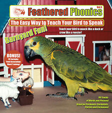 Feathered Phonics #3 CD: Fun! Teach & train your bird/ parrot to talk & speak!