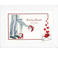 Vervaco PN-0143727 | First Dance Wedding Record Counted Cross Stitch Kit