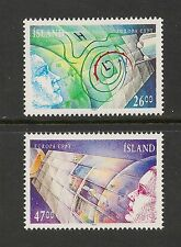 Iceland #738-739 VF MNH - 1991 Weather Map, Solar Panels, Science - SCV $16.50
