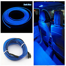 Car Cold Light Blue Lamp Strip Atmosphere Interior Decorative Trim 2M For Ford
