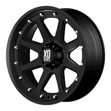 18x9 KMC XD798 Addict Matte Black Wheels Rims Chevy Ford GMC Dodge Jeep