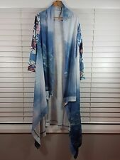 CIRCUS ROADSHOW sz L (or 14 ) womens Digital Print Drape Jacket [#1501]
