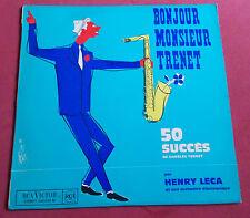 HENRY LECA ORCHESTRE LP BONJOUR MONSIEUR TRENET 50 SUCCES