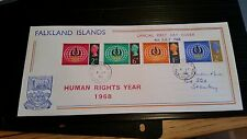 FALKLAND ISLANDS 1968 SG 228-231 HUMAN RIGHTS YEAR FIRST DAY COVER