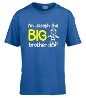 Personalised I'm The Big Brother Boys T-Shirt 3-14 Yrs Funny Custom Gift Present