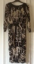 M&S Ladies Round Neck Secret Support Black & Beige Shift Dress Size 10 BNWT