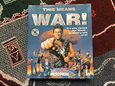 THIS MEANS WAR! -  PC GAME - BIG BOX - MICROPROSE