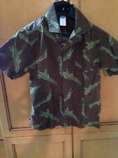 Gymboree Boys Gator Shirt Green And Brown Short Sleeve Shirt With Collar Size 7