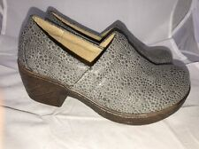 B.O.C By Born Concept Gray Iridescent Textured Clogs 6