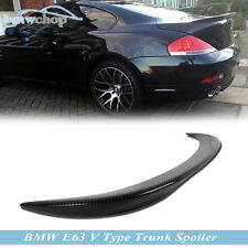 Carbon BMW E63 2D Coupe V Type Rear Boot Trunk Spoiler Wing M6 650i