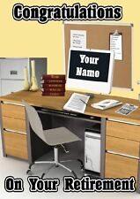 Personalised Congratulations Retirement Office Job Greeting Card PIDV6 A5