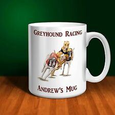 Greyhound Racing Personalised Ceramic Mug .  Perfect gift!