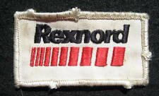 """REXNORD EMBROIDERED SEW ON ONLY PATCH PROCESS AND MOTION CONTROLS 3 1/4"""" x 1 3/4"""
