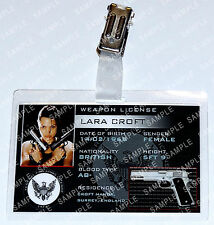 Lara Croft Tomb Raider ID Badge Weapon License Cosplay Costume Prop Comic Con