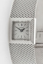 Vintage $12,000 Signed Piaget 18k White Gold Ladies Dress Watch 41g