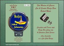 Royale Car Scooter Bar Badge - BEATLES YELLOW SUBMARINE - B1.1562