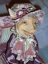 RARE Katherine's Collection By Wayne Kleski ROSIE PIGGY Pig Jack in the Box 11""