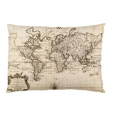 """Hot New Antique World Map pillow case 30"""" x 20"""" one side cover free shipping"""
