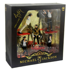 "SET OF 5 KING OF POP MICHAEL JACKSON 4"" FIGURES FIGURINES COLLECTION AK197"