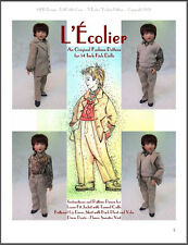 """L'Écolier"" Fashion Pattern for 14"" Kish  Boy Phoenix"