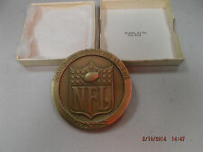 1969 Solid Bronze Football Medallion
