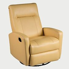 Latour swivel glider recliner in diego yellow color