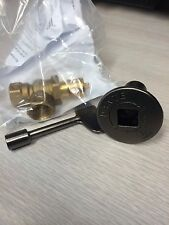 GAS VALVE AND KEY COMBO FOR FIREPLACE GAS LOG FIRE PIT -  PEWTER