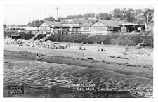 Del Mar California Beach Club Real Photo Antique Postcard K29976