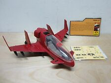 G.I JOE COBRA 25TH ANNIVERSARY FIRE BAT VTOL JET VEHICLE 100% COMPLETE FIREBAT